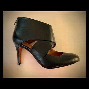 Black leather Como Corso Designer heels